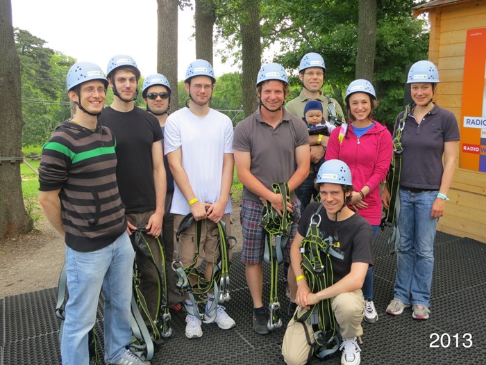 Group photo taken in 2013 at a high rope course.