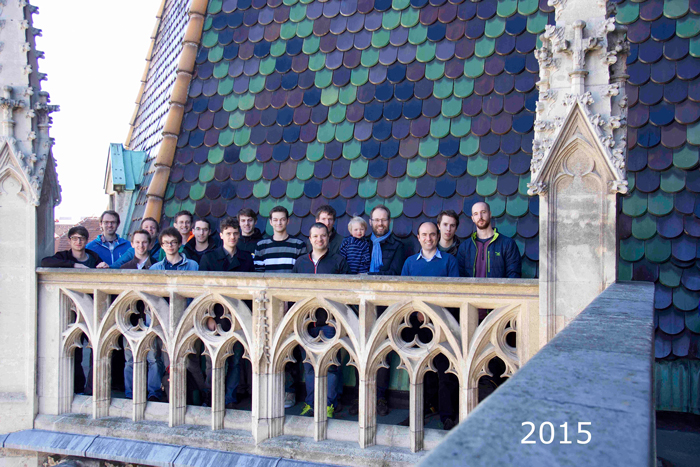 Group photo taken in 2015 during a guided tour in the St. Stephen's Cathedral